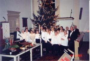 Het koor 10 jaar geleden in de toenmalige kerk in Sas van Gent